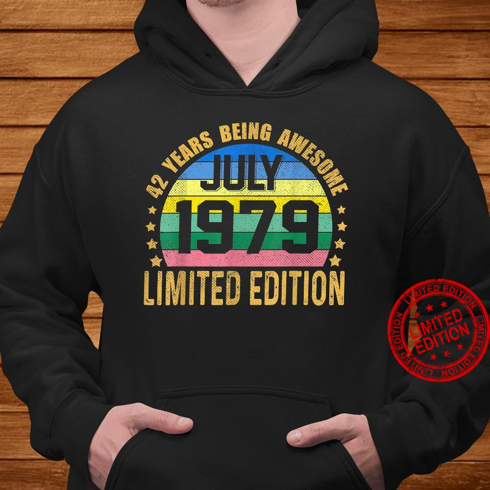 42 Years Old Vintage July 1979 Limited Edition 42nd Birthday Shirt hoodie