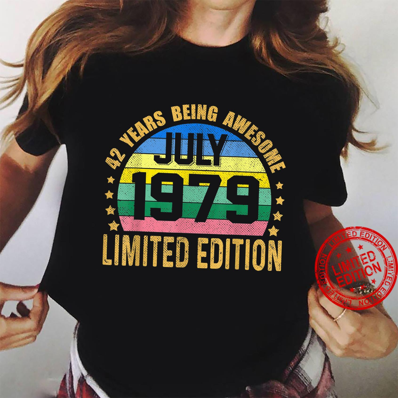 42 Years Old Vintage July 1979 Limited Edition 42nd Birthday Shirt ladies tee