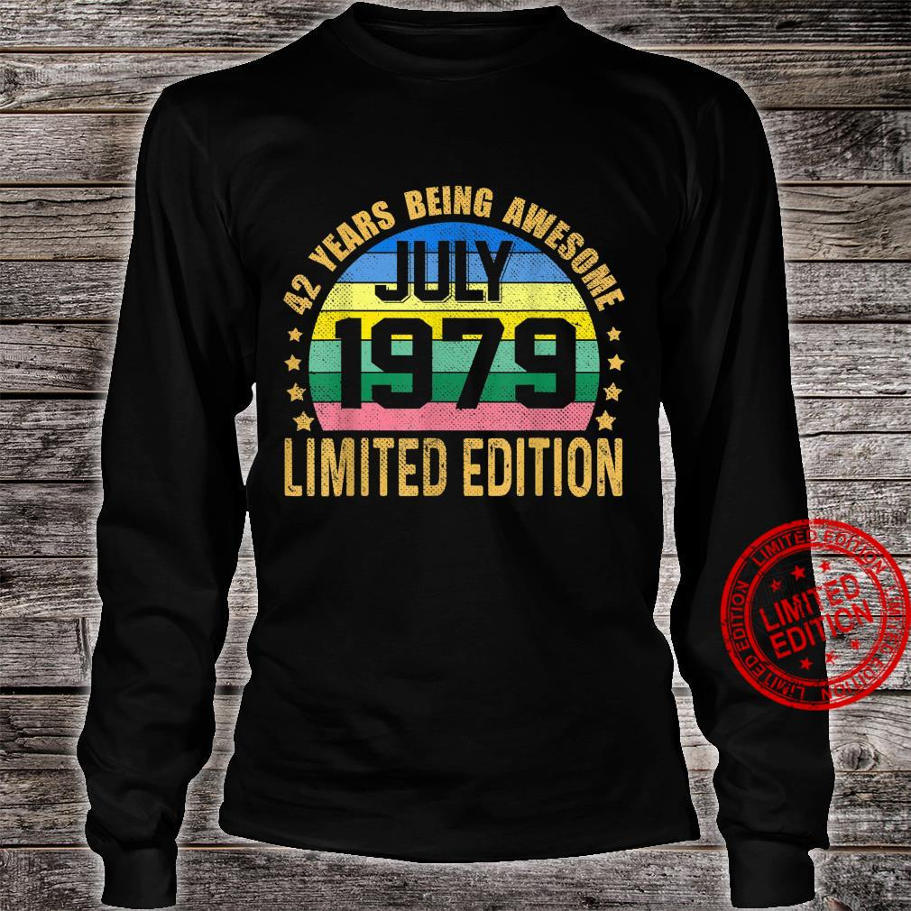 42 Years Old Vintage July 1979 Limited Edition 42nd Birthday Shirt long sleeved