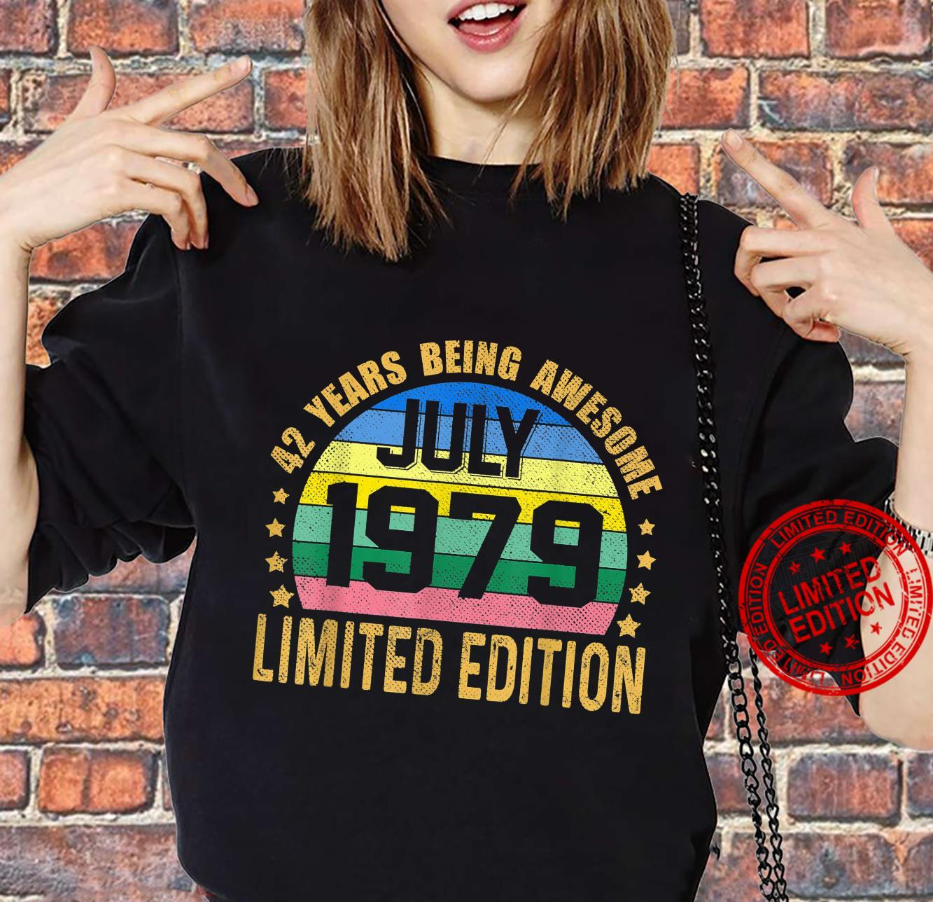 42 Years Old Vintage July 1979 Limited Edition 42nd Birthday Shirt sweater