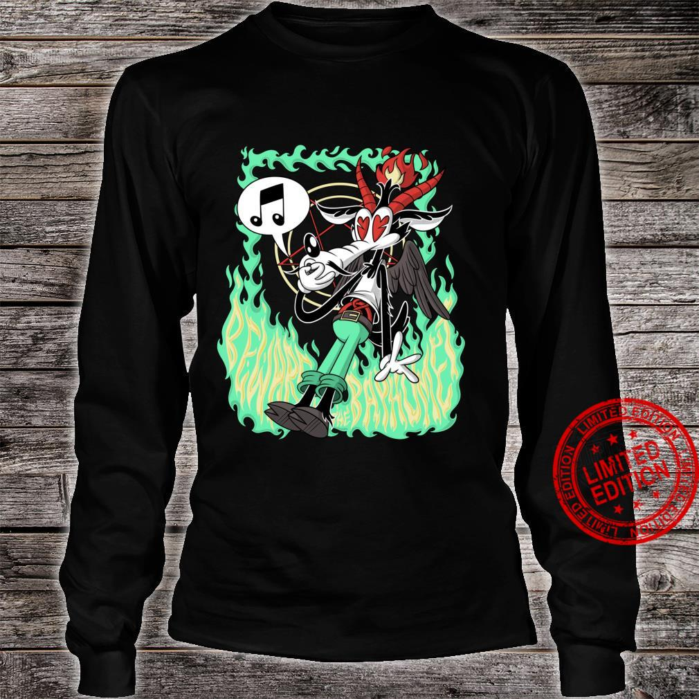Funny Beware the Baphomet evil Wolf Whistle Hell's Flames Shirt long sleeved