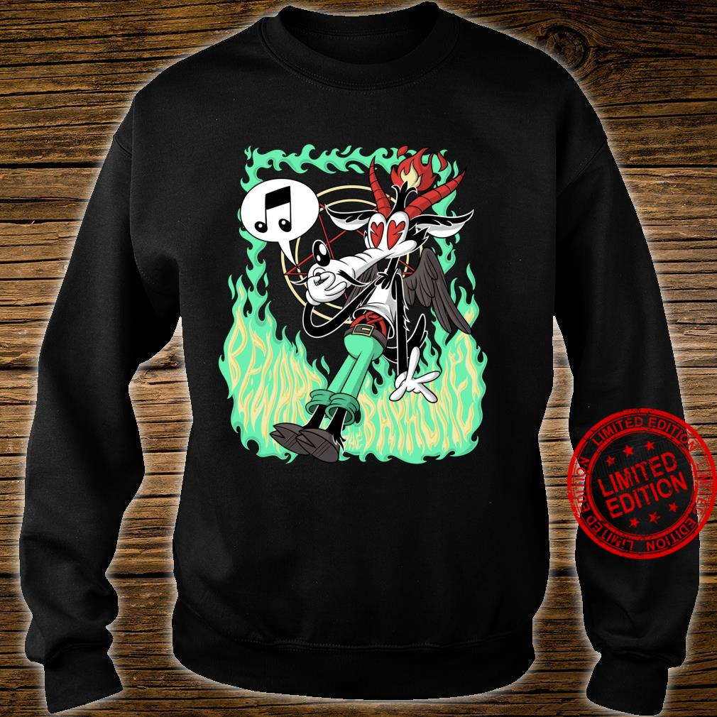 Funny Beware the Baphomet evil Wolf Whistle Hell's Flames Shirt sweater
