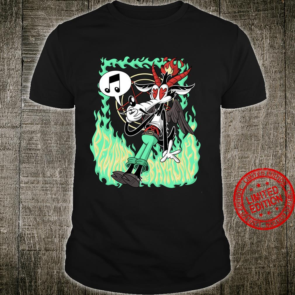 Funny Beware the Baphomet evil Wolf Whistle Hell's Flames Shirt