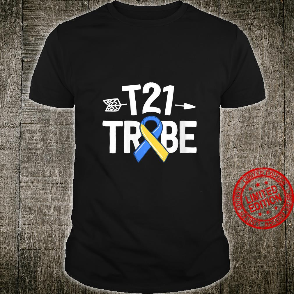 Womens Down Syndrome For Parents T21 Tribe Family Ribbon Shirt